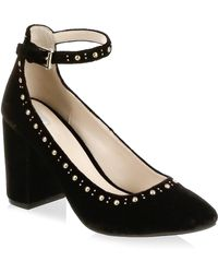 Cole Haan - Larue Velvet Ankle Strap Court Shoes - Lyst