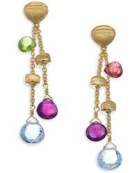 Marco Bicego - Paradise 18k Yellow Gold & Semi-precious Multi-stone Double-drop Earrings - Lyst