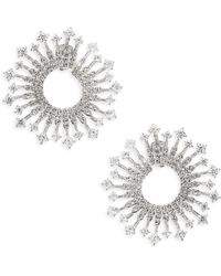 Adriana Orsini - Greta Clear Front-to-back Earrings - Lyst