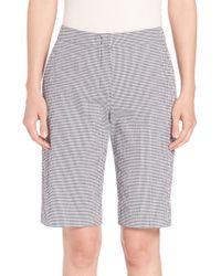 Peserico - Gingham Bermuda Shorts - Lyst