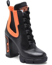 55c2e4943aac Prada - Chunky Lace-up Boots - Lyst