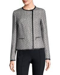 Lafayette 148 New York - Caridee Weave Asymmetrical Jacket - Lyst