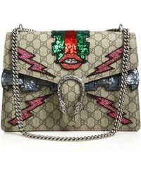 Gucci - Dionysus Gg Supreme Embroidered Bag - Lyst