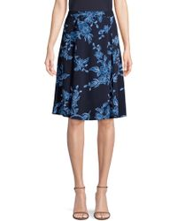 Draper James - Shadow Floral A-line Skirt - Lyst