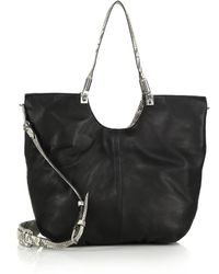 Elizabeth and James | Cynnie Python-effect-trim Tote | Lyst