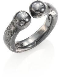 King Baby Studio - Men's Sterling Silver Adjustable Bull Ring - Silver - Lyst
