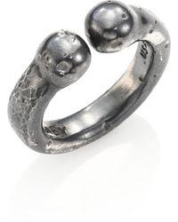 King Baby Studio - Sterling Silver Bull Ring - Lyst