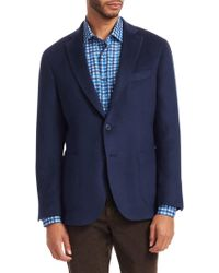 7d2c400a78 Saks Fifth Avenue - Men s Collection Solid Brushed Sportcoat - Blue - Size  38 R -