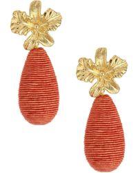 Lizzie Fortunato - Citrus 18k Goldplated Cord Drop Earrings - Lyst