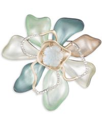 Alexis Bittar - Roxbury Muse Abstract Color Block Flower Pin - Lyst
