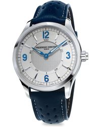 Frederique Constant - Horological Porous Leather Strap Smart Watch - Lyst