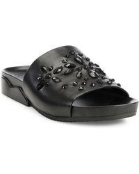 Tory Burch - Brae Crystal-embellished Leather Slides - Lyst
