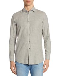 Luciano Barbera - Beaded Stripe Cotton Sportshirt - Lyst