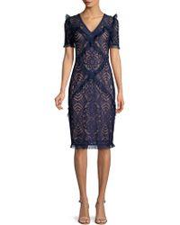 BCBGMAXAZRIA - Stretch Lace Sheath Dress - Lyst