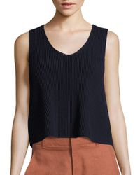 Vince - Solid Ribbed Tank - Lyst