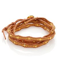 Chan Luu | Beaded Leather Multi-row Wrap Bracelet | Lyst