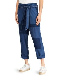 Polo Ralph Lauren - Belted Patchwork Pants - Lyst