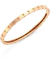 Roberto Coin | Pois Moi 18k Rose Gold Oval Bangle Bracelet | Lyst