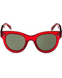 aa4a2af605d7c Lyst - Céline Transparent Smoke Aviator Sunglasses in Brown