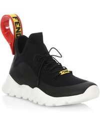 Fendi - Knit Think Colorblock Sneakers - Lyst