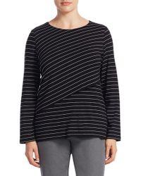 Marina Rinaldi - Plus Striped T-shirt - Lyst