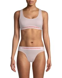 d847745f92 CALVIN KLEIN 205W39NYC - Women s Soft Bralette - White - Size Xs - Lyst