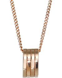 Repossi - Antifer Four-row 18k Rose Gold Pendant Charm Necklace - Lyst