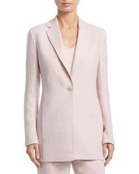 Akris - Ocean Linen & Wool Long Jacket - Lyst