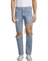 DIESEL - Distressed Slim Fit Jeans - Lyst