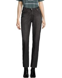 Opening Ceremony - High-rise Cotton Straight Jeans - Lyst