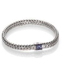 John Hardy - Classic Chain Sapphire & Sterling Silver Small Bracelet - Lyst