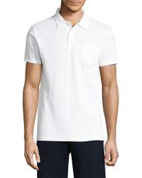 Sunspel - Textured Cotton Polo - Lyst