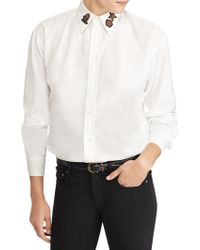 Polo Ralph Lauren - Embellished Relaxed Fit Shirt - Lyst