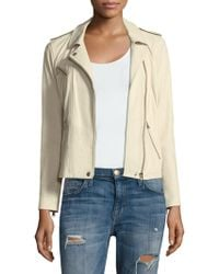 Rebecca Taylor - Washed Leather Jacket - Lyst