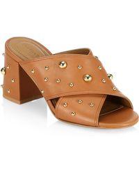 See By Chloé - Abby Caramel Crisscross Sandals - Lyst