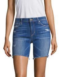 Joe's Jeans - Finn Bermuda Distressed Denim Shorts - Lyst