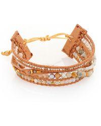 Chan Luu | Natural Semi-precious Stone Mix Leather Bracelet | Lyst
