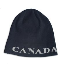 552de4903ff Canada Goose Logo Pom Hat in Gray for Men - Lyst
