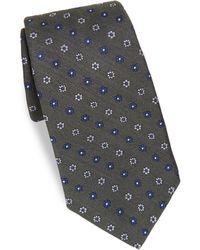 Kiton - Tiny Floral Print Silk Tie - Lyst