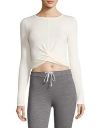 Alo Yoga - Cropped Twist Top - Lyst