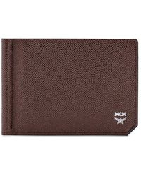 MCM - New Bric Money Clip Bifold Leather Wallet - Lyst