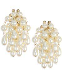 Lele Sadoughi - Mosaic Garden Imitation Pearl Cluster Post Earrings - Lyst