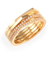 Repossi - Antifer Diamond & 18k Rose Gold Four-row Ring - Lyst
