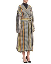Rosie Assoulin - Oversized Striped Houndstooth Coat - Lyst