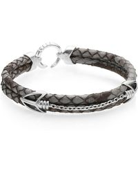 Stinghd - Pythonhd Handcrafted High-end Braided Leather Bracelet - Lyst