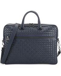 Bottega Veneta - Men's Intrecciato Leather Briefcase - Brighton - Lyst