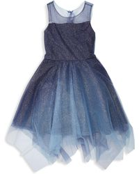 b4a50850483 Zoe - Girl s Suzy Ombré Shimmer Dress - Navy - Lyst