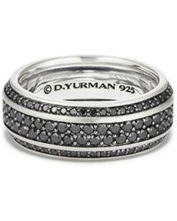 David Yurman - Streamline Pavé Band Ring With Black Diamonds - Lyst