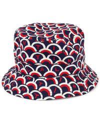 4e86c52db60 Valentino - Men s Logo Scale Print Bucket Cap - Marine Mattone - Size Large  - Lyst