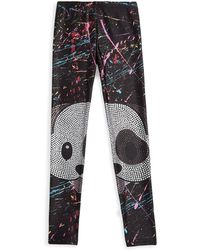 Terez - Girl's Crystal Dog Emoji Leggings - Lyst